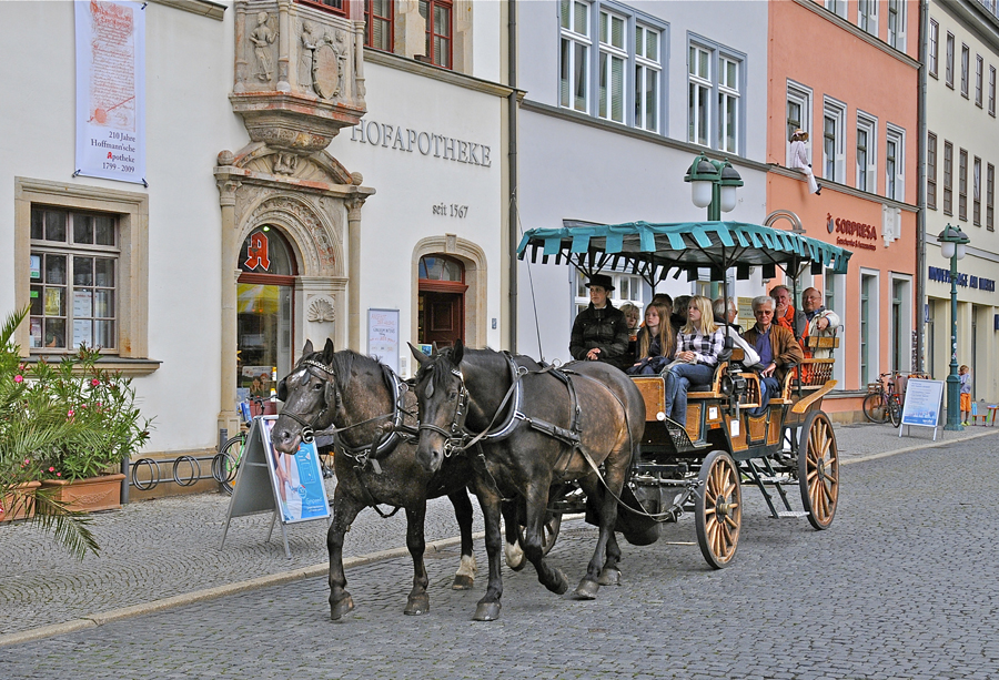 Ballade touristique à Weimar.