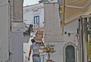 Dans une ruelle d'Amalfi.
