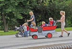 Ballade du jardin d'enfants à Bamberg.