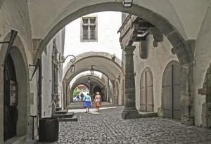 à Rothenburg ob der Tauber en Franconie (Allemagne).