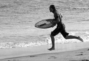 Surfeur volant au cap Ferret.